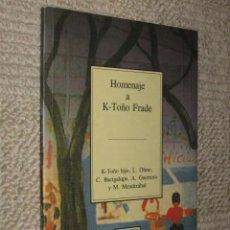 Libros antiguos: HOMENAJE A K-TOÑO FRADE. TEMAS VIZCAÍNOS. BILBAO 1993. Lote 36967440