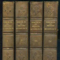 Libros antiguos: ANTONIO FERRER DEL RIO. HISTORIA DEL REINADO DE CARLOS III EN ESPAÑA. 4 VOLS. MADRID, 1856 . Lote 23119055