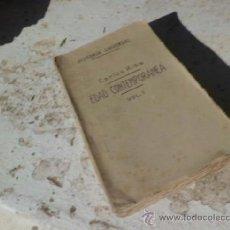 Libros antiguos: LIBRO EDAD CONTEMPORANEA VOL I HISTORIA UNIVERSAL CARLOS RIBA 1929 SUCESORES DE JUAN GILI L-3620. Lote 37469345