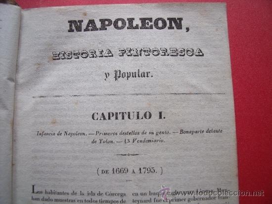 Libros antiguos: HISTORIA DE NAPOLEON.-90 GRABADOS AL ACERO.-AÑO 1839. - Foto 5 - 37615621