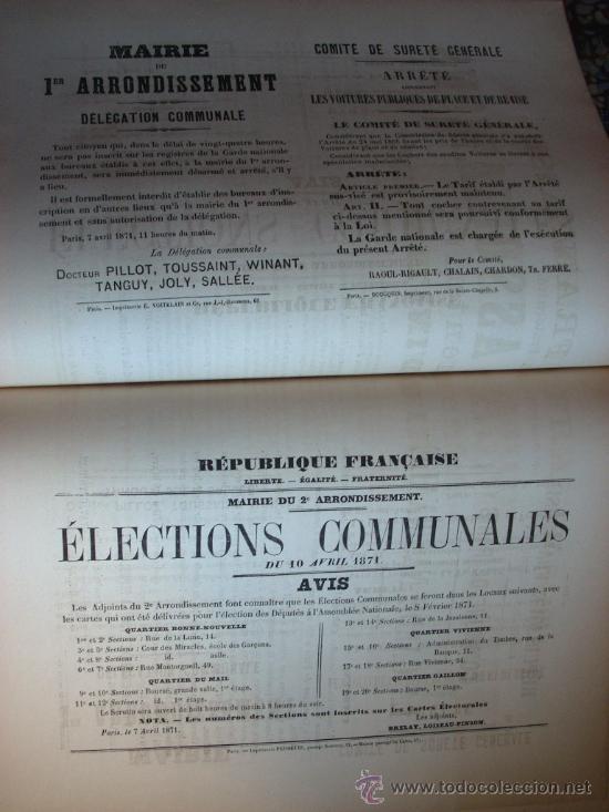 Libros antiguos: LA COMUNA DE PARIS - LA COMMUNE - LES MURAILLES POLITIQUES - 1874 - 2 VOLUMENES - Foto 3 - 37801223