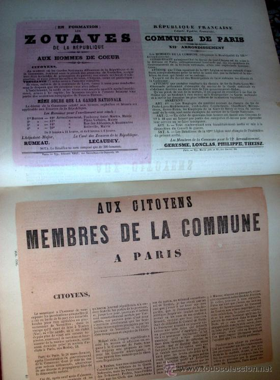 Libros antiguos: LA COMUNA DE PARIS - LA COMMUNE - LES MURAILLES POLITIQUES - 1874 - 2 VOLUMENES - Foto 6 - 37801223
