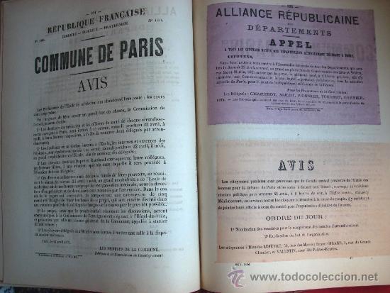Libros antiguos: LA COMUNA DE PARIS - LA COMMUNE - LES MURAILLES POLITIQUES - 1874 - 2 VOLUMENES - Foto 7 - 37801223