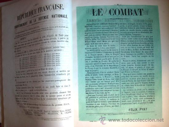 Libros antiguos: LA COMUNA DE PARIS - LA COMMUNE - LES MURAILLES POLITIQUES - 1874 - 2 VOLUMENES - Foto 12 - 37801223