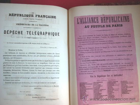 Libros antiguos: LA COMUNA DE PARIS - LA COMMUNE - LES MURAILLES POLITIQUES - 1874 - 2 VOLUMENES - Foto 15 - 37801223
