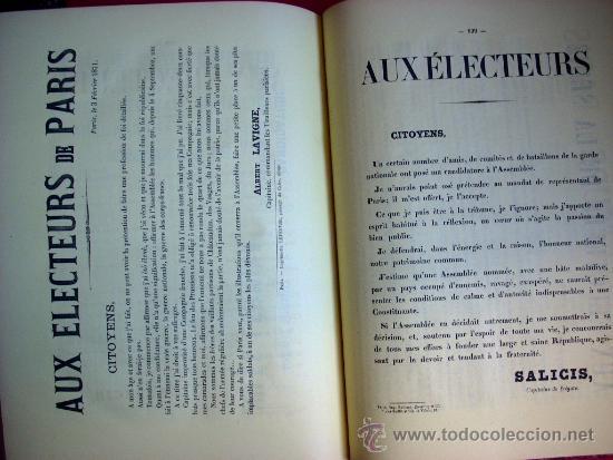 Libros antiguos: LA COMUNA DE PARIS - LA COMMUNE - LES MURAILLES POLITIQUES - 1874 - 2 VOLUMENES - Foto 16 - 37801223