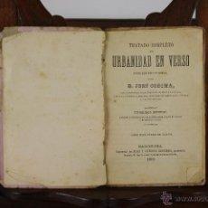 Libros antiguos: LP-015 - URBANIDAD EN VERSO. JOSE CODINA. LIB. ANTONIO BASTINOS. 1883.. Lote 39615019