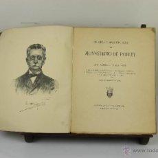 Libros antiguos: 3973- HISTORIA Y ARQUITECTURA DEL MONASTERIO DE POBLET. LUIS DOMENECH. EDIT. MONTANER Y SIMON. 1928.. Lote 39801474