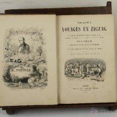 Libros antiguos: 4037- NOUVEAUX VOYAGES EN ZIGZAG. R. TOPFFER. EDIT, VICTOR LECOU. 1854. . Lote 39916423