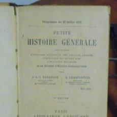 Libros antiguos: PETITE HISTOIRE GÉNÉRALE. 1882. Lote 40368621