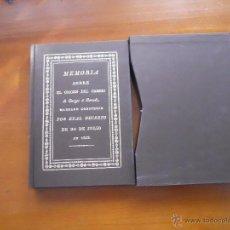 Libros antiguos: MEMORIA SOBRE EL ORIGEN DEL CAMINO DE BURGOS A BERCEDO, FACSIMIL. Lote 40946631