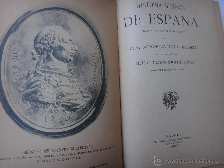Libros antiguos: LIBRO HISTORIA GENERAL DE ESPAÑA , REINADO DE CARLOS III , 1894 , EDIT EL PROGRESO , ORIGINAL - Foto 2 - 43442392