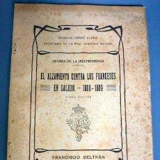 Libros antiguos: GUERRA INDEPENDENCIA. EL ALZAMIENTO CONTRA LOS FRANCESES EN GALICIA (1808/09). E. CARRÉ ALDAO. 1915. Lote 44065223