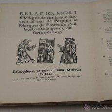 Libros antiguos: RECULL DE DOCUMENTS I ESTUDIS. ARXIU MUNICIPAL HISTÒRIC. 1920-1923. Lote 44732892