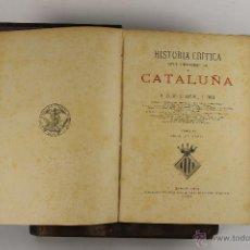 Libros antiguos: 5402- HISTORIA CRITICA DE CATALUÑA. ANTONIO DE BOFARRULL. EDIT. JUAN ALEU. 1876. 4 VOL. . Lote 45699935
