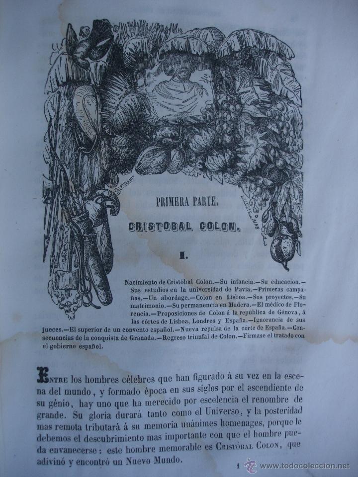 Libros antiguos: Historia del descubrimiento y conquista de América. Campe 1845 - Foto 5 - 47389091