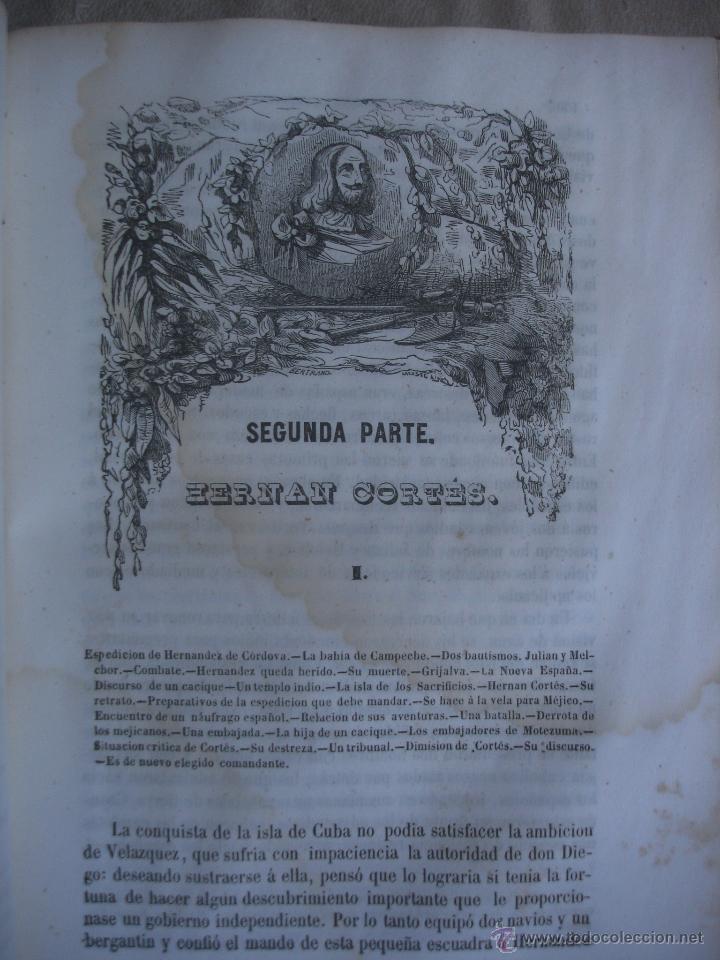 Libros antiguos: Historia del descubrimiento y conquista de América. Campe 1845 - Foto 8 - 47389091