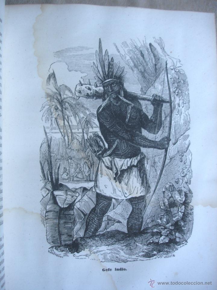 Libros antiguos: Historia del descubrimiento y conquista de América. Campe 1845 - Foto 9 - 47389091