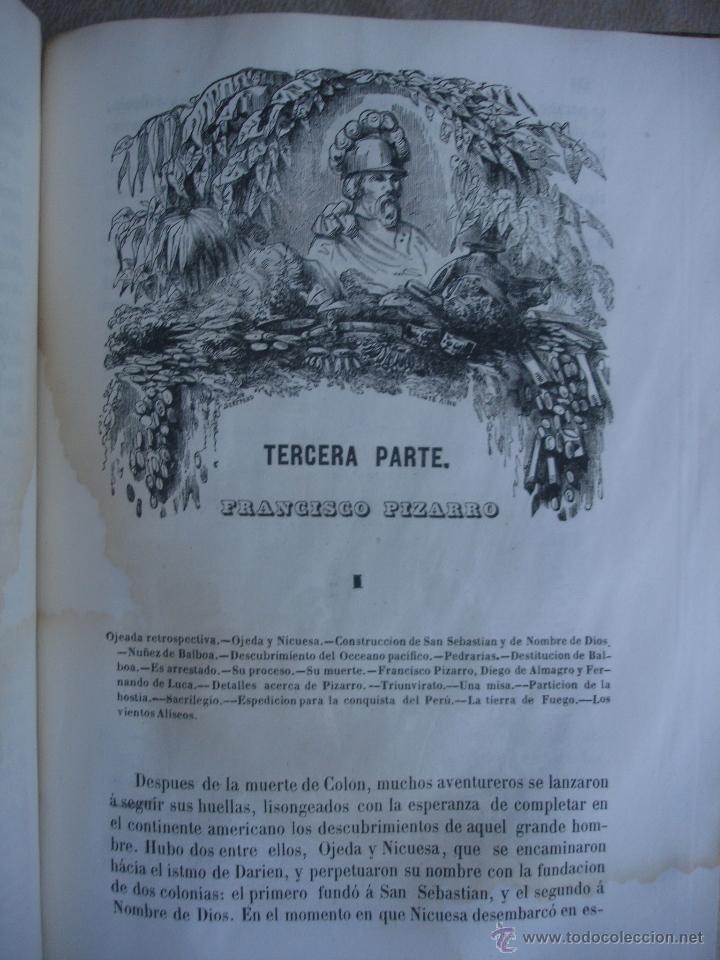 Libros antiguos: Historia del descubrimiento y conquista de América. Campe 1845 - Foto 13 - 47389091