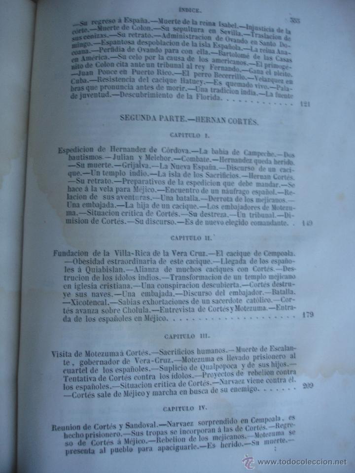 Libros antiguos: Historia del descubrimiento y conquista de América. Campe 1845 - Foto 17 - 47389091