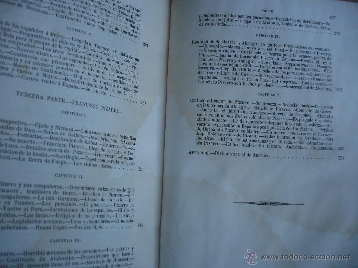 Libros antiguos: Historia del descubrimiento y conquista de América. Campe 1845 - Foto 18 - 47389091