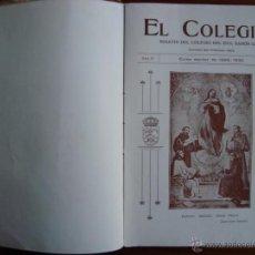 Libros antiguos: EL COLEGIAL. BOLETÍN COLEGIO RAMON LLULL. CURSO 1929-1930. INCA. MALLORCA. NUMEROSAS FOTOS.. Lote 48005010