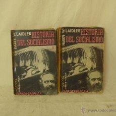 Libros antiguos: LIBRO 2 TOMOS. HISTORIA DEL SOCIALISMO, BILBAO 1933. REPUBLICA. PRE GUERRA CIVIL.. Lote 48463206