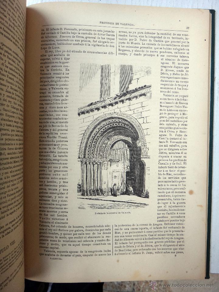 Libros antiguos: LIBRO CRONICA GENERAL DE LA PROVINCIA DE VALENCIA , 1867 , RUBIO Y COMPAÑIA , ORIGINAL - Foto 6 - 48539736