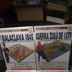 Libros antiguos: LOTE OSPREY GUERRAS SIGLO XIX NAPOLEONICAS COLONIALES MBE. Lote 48637050