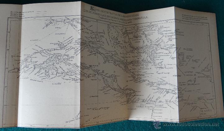 Libros antiguos: LA GUERRA HISPANO AMERICANA. GOMEZ NUÑEZ. 1899. 2 TOMOS EN 1 VOLUMEN. GRABADOS Y MAPAS. - Foto 4 - 49197024