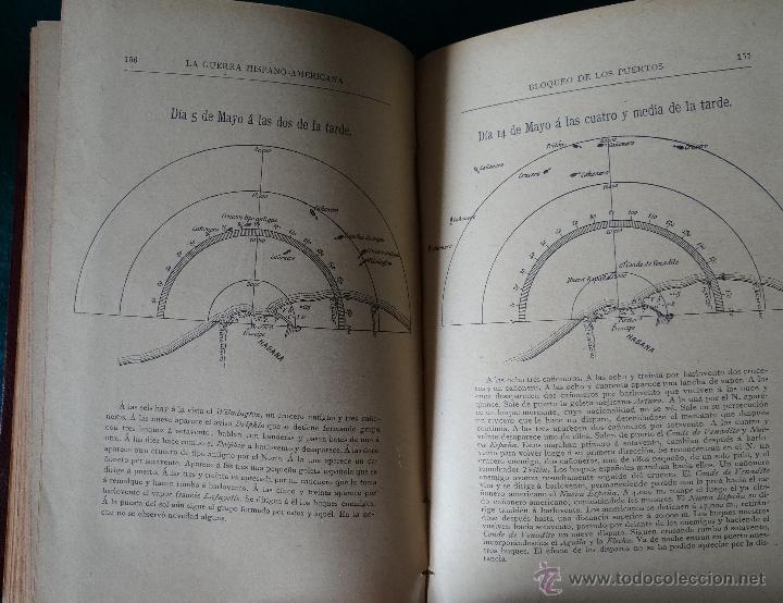 Libros antiguos: LA GUERRA HISPANO AMERICANA. GOMEZ NUÑEZ. 1899. 2 TOMOS EN 1 VOLUMEN. GRABADOS Y MAPAS. - Foto 5 - 49197024