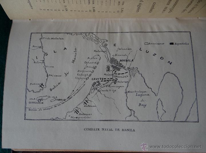 Libros antiguos: LA GUERRA HISPANO AMERICANA. GOMEZ NUÑEZ. 1899. 2 TOMOS EN 1 VOLUMEN. GRABADOS Y MAPAS. - Foto 6 - 49197024