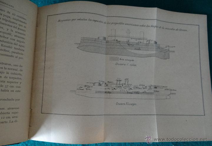 Libros antiguos: LA GUERRA HISPANO AMERICANA. GOMEZ NUÑEZ. 1899. 2 TOMOS EN 1 VOLUMEN. GRABADOS Y MAPAS. - Foto 7 - 49197024