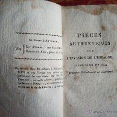 Libros antiguos: 1808-EXPOSICIÓN HECHOS Y MAQUINACIONES.PEDRO CEVALLOS.NAPOLEÓN.GUERRA INDEPENDENCIA.ORIGINAL. Lote 49275450