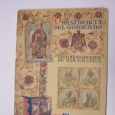 Libros antiguos: CURIOSO CUADERNO BILINGÜE PROFUSAMENTE ILUSTRADO POR SAENZ DE TEJADA, 1951. LAS CIENCIAS, EN ESPAÑA. Lote 49638872