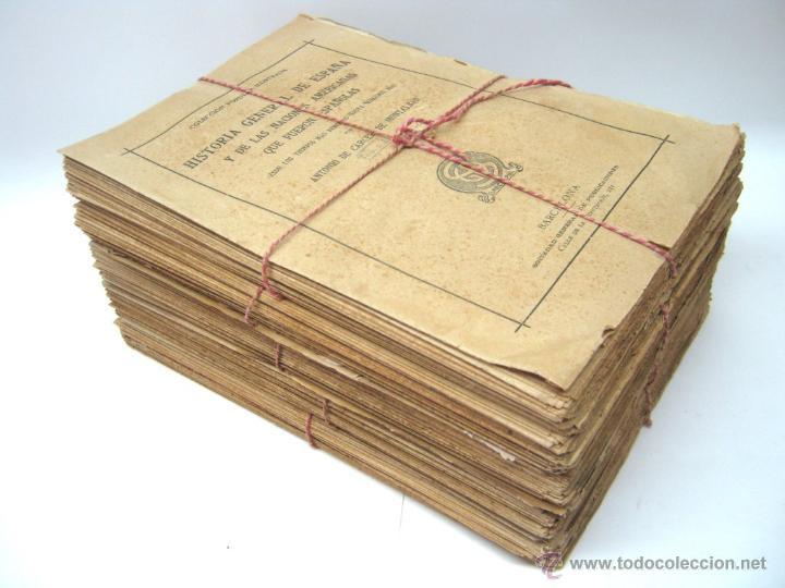 HISTORIA DE ESPAÑA Y DE LAS NACIONES AMERICANAS QUE FUERON ESPAÑOLAS TOMOS 1 2 3 4 Y 5 - CON LAMINAS (Libros antiguos (hasta 1936), raros y curiosos - Historia Moderna)