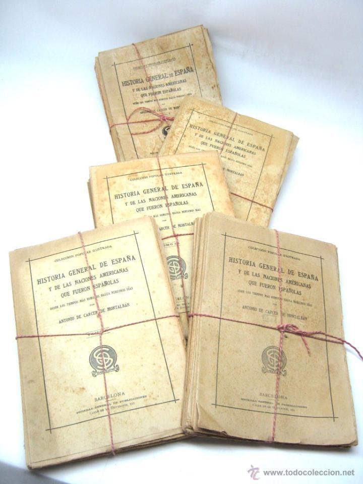 Libros antiguos: Historia de España y de las Naciones Americanas que fueron españolas TOMOS 1 2 3 4 Y 5 - con laminas - Foto 2 - 50595659