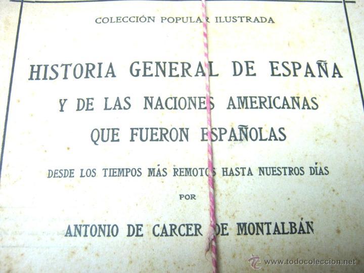 Libros antiguos: Historia de España y de las Naciones Americanas que fueron españolas TOMOS 1 2 3 4 Y 5 - con laminas - Foto 3 - 50595659