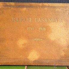 Libros antiguos: RAFAEL CASANOVA 1714-1936 ÀLBUM RECORD PUBLICACIONS KELMI, BARCELONA 1936 BON ESTAT V FOTOS. Lote 52451471