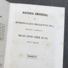 Libros antiguos: HISTORIA UNIVERSAL TOMO IV CÉSAR CANTÚ E.T. FRANCISCO DE PAULA MELLADO AÑO 1847 SIGLO XIX. Lote 53103480