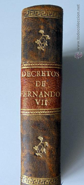 COLECCION DE LAS REALES CÉDULAS, DECRETOS Y ORDENES DE SU MAGESTAD EL SEÑOR D. FERNANDO VII. 1814 (Libros antiguos (hasta 1936), raros y curiosos - Historia Moderna)