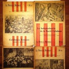 Libros antiguos: LA GUERRA DELS SEGADORS / CATALUNYA ROMANA / LA INDEPENDENCIA DE LA NACIO CATALANA/ JAUME I. . Lote 54014026