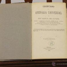 Libros antiguos: 7204 - COMPENDIO DE LA HISTORIA UNIVERSAL. 4ª EDI. MANUEL IBO. IMP. ÁLVAREZ. 1881.. Lote 54248964