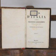 Libros antiguos: 5447- STORIA D'ITALIA. FRANCESCO GUICCIARDINI. EDIT. GISEPPE REINA. 1850. 4 VOL.. Lote 45735554