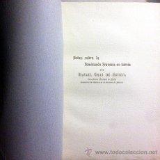 Libros antiguos: GRAS DE ESTEVA: NOTAS SOBRE LA DOMINACIÓN FRANCESA EN LÉRIDA. (GUERRA INDEPENDENCIA.LLEIDA) (1908).. Lote 54932055