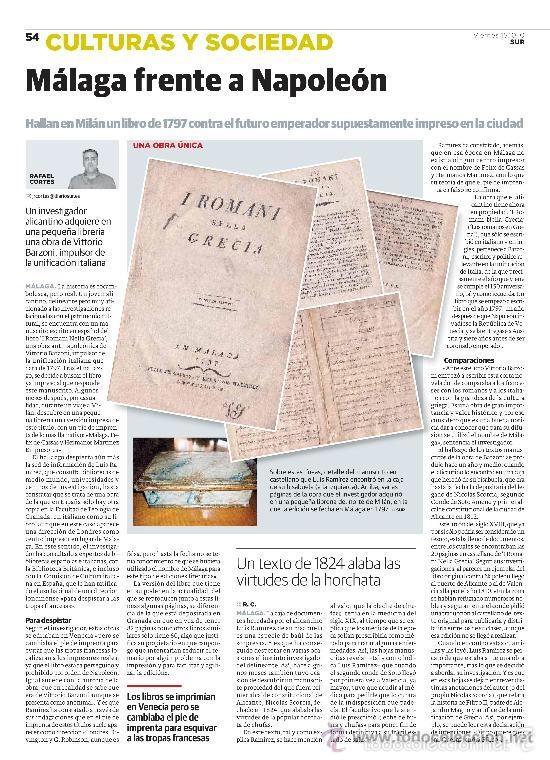 Libros antiguos: Libro antinapoleonico falsamente impreso en Málaga para eludir la censura. Siglo XVIII. Muy raro. - Foto 4 - 55811551