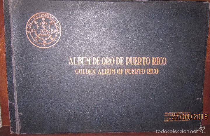 ALBUM DE ORO DE PUERTO RICO. DEDICADO A FULGENCIO BATISTA POR LOS AUTORES. AÑO 1939. 32,2 X 48,2 CM. (Libros antiguos (hasta 1936), raros y curiosos - Historia Moderna)