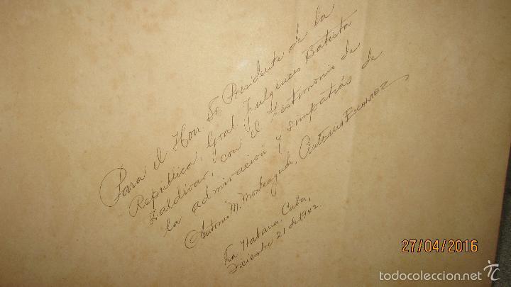 Libros antiguos: ALBUM DE ORO DE PUERTO RICO. DEDICADO A FULGENCIO BATISTA POR LOS AUTORES. AÑO 1939. 32,2 X 48,2 CM. - Foto 3 - 56439084