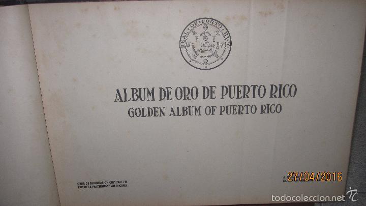 Libros antiguos: ALBUM DE ORO DE PUERTO RICO. DEDICADO A FULGENCIO BATISTA POR LOS AUTORES. AÑO 1939. 32,2 X 48,2 CM. - Foto 5 - 56439084