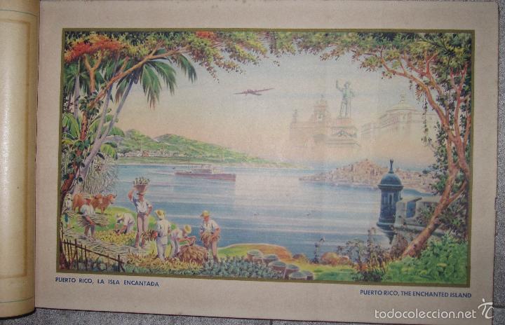 Libros antiguos: ALBUM DE ORO DE PUERTO RICO. DEDICADO A FULGENCIO BATISTA POR LOS AUTORES. AÑO 1939. 32,2 X 48,2 CM. - Foto 6 - 56439084